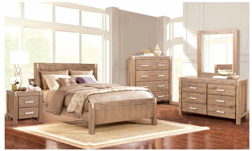 MATRIX  KING 6 PIECE (THE LOT) BEDROOM SUITE -  DESERT SAND