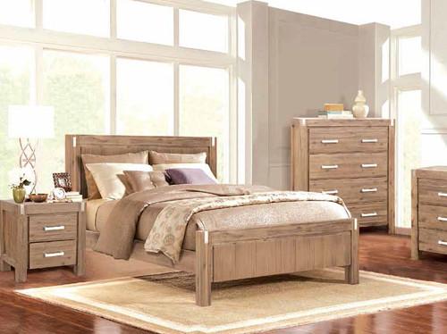 MATRIX  DOUBLE  OR QUEEN  3  PIECE (BEDSIDE ) BEDROOM SUITE -  DESERT SAND