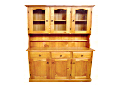 MUDGEE / COLONIAL STYLE BUFFET & HUTCH (AUSSIE MADE) - 6 DOOR / 3 DRAWER - 2000(H) x 1300(W) - ASSORTED COLOURS