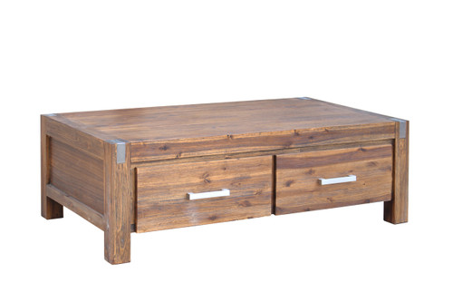 MATRIX RECTANGULAR COFFEE TABLE WITH DRAWERS - DESERT SAND