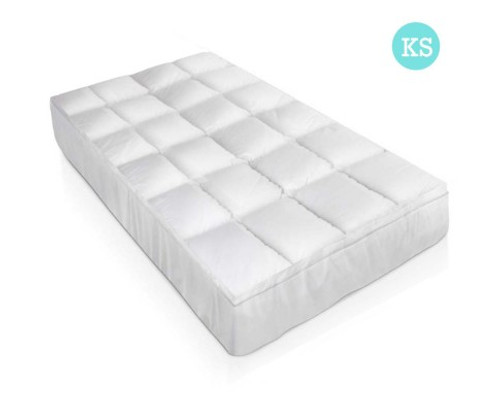 GISELLE KING  SINGLE  SIZE DUCK FEATHER & DOWN MATTRESS  TOPPER