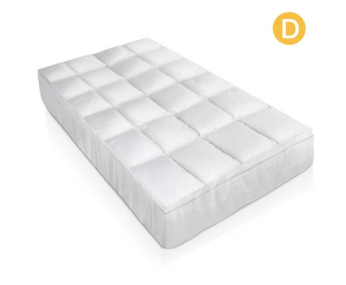 GISELLE DOUBLE   SIZE DUCK FEATHER & DOWN MATTRESS  TOPPER