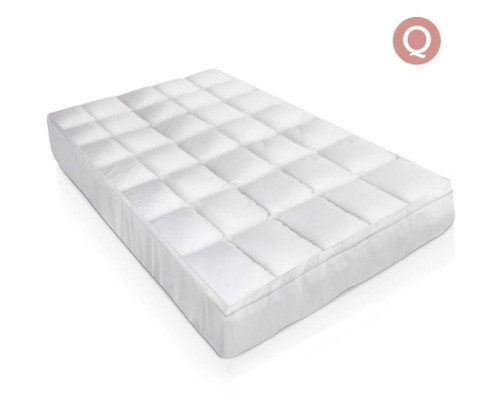 GISELLE  QUEEN  SIZE DUCK FEATHER & DOWN MATTRESS  TOPPER