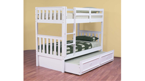 SINGLE OVER SINGLE LINDFIELD (MODEL 10-5-19-20-5-18) BUNK BED (EXCLUDING TRUNDLE) - ARCTIC WHITE