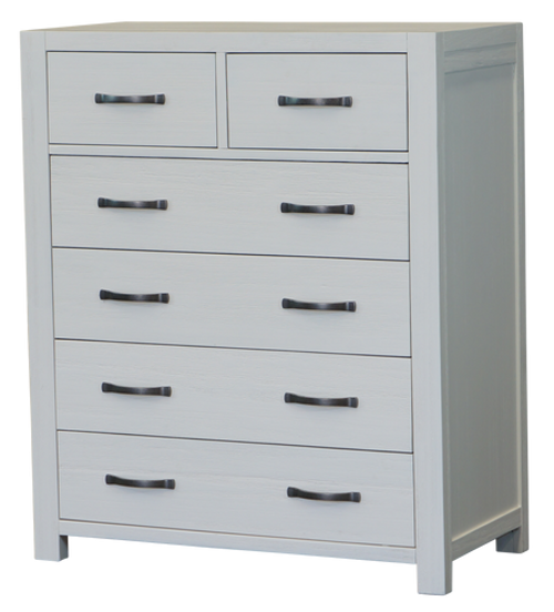 FRENCH COAST  6 DRAWER BEDSIDE TABLE - WHITE