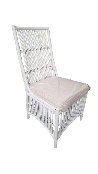 COLOMBUS CANE HIGH BACK DINING CHAIR (DET-817) - WHITE OR WHITEWASH