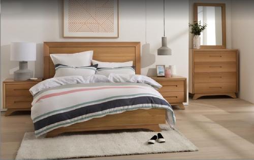 AVANTI  DOUBLE  OR QUEEN  4 PIECE (TALLBOY) BEDROOM SUITE - ASSORTED COLOURS