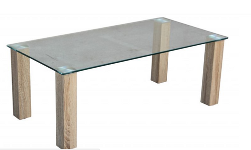 HAVANA GLASS TOP DINING  TABLE - 1500(L) X 900(W)   - COLOUR AS PICTURED