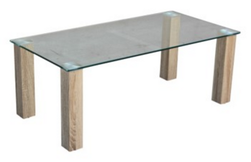 HAVANA GLASS TOP COFFEE TABLE - 1200(W) X 600(D)   - COLOUR AS PICTURED