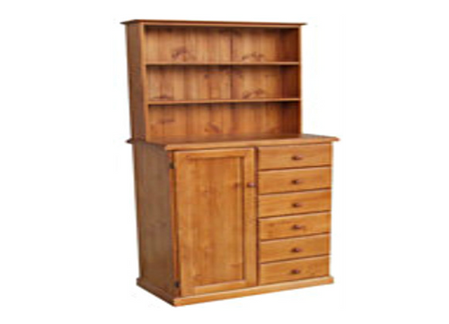 TIMBER NURSERY ROBE + HUTCH - 1800(H) X  900(W) - ASSORTED COLOURS