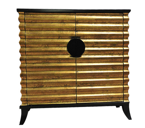 EGYPTIAN  FEUILLE D'OR 2 DOOR BUFFET  (MODEL:MT01) - AS PICTURED