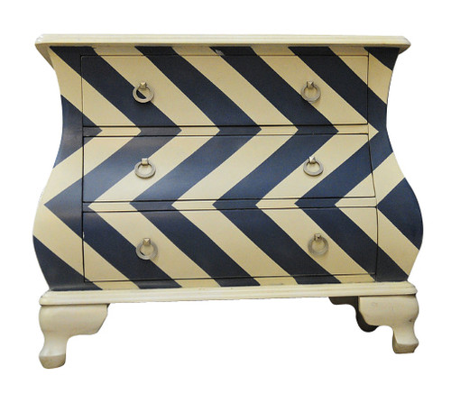 LACTECT BOWFRONT 3 DRAWER LOWBOY CHEST -740(H) X 890(W) - (MODEL:MT10) - COLOUR AS PICTURED