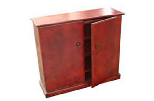 TIMBER SHOE CABINET WITH SMOOTH DOORS - 900(H) X 1000(W) - ASSORTED COLOURS