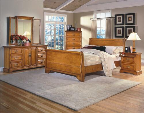 CREEK KING 6 PIECE (THE LOT)  BEDROOM SUITE - (MODEL:8225)  -  BEIGE