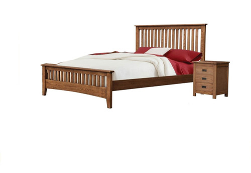 DANIEL (3727) KING 3 PIECE  (BEDSIDE) BEDROOM SUITE WITH SERRA CASEGOODS  - -CHESTNUT