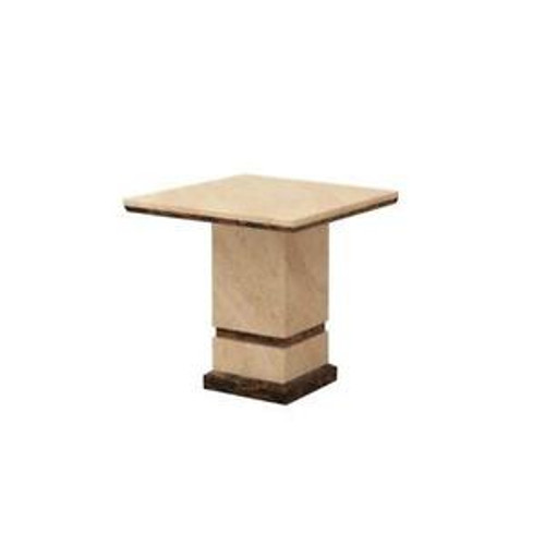 SPATINE  MARBLE  LAMP  TABLE  - (MODEL: 9106)  -  AS PICTURED