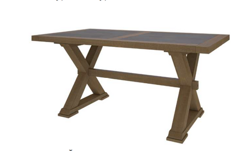 COTTAGE BILLABONG DINING TABLE - 1800(L) X 950(W)- COLOUR AS PICTURED