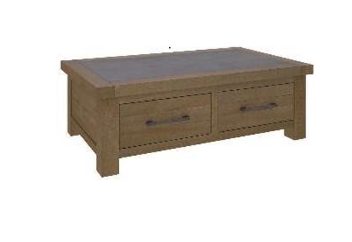 COTTAGE BILLABONG 2 DRAWERS COFFEE TABLE - 1200(W) X 700(D)- COLOUR AS PICTURED