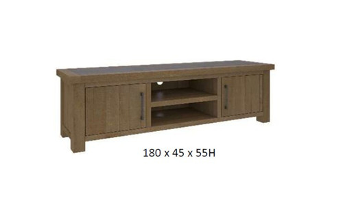 COTTAGE BILLABONG TWO  DRAWER  ENTERTAINMENT UNIT - 550(H) X 1800(W) -COLOUR AS PICTURED