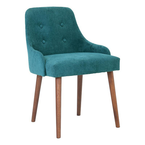 CAITLIN FABRIC DINING CHAIR - NILE GREEN