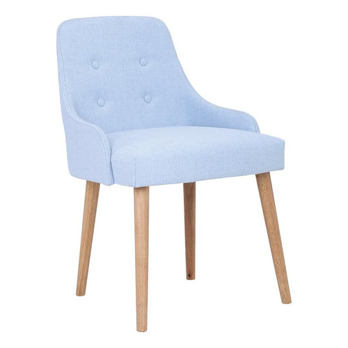 CAITLIN FABRIC DINING CHAIR - PALE BLUE