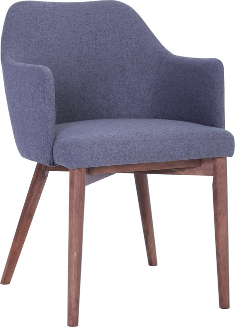 GRITEL FABRIC DINING CHAIR - DIM GREY