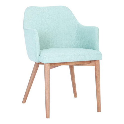 GRITEL FABRIC DINING CHAIR - SEA GREEN