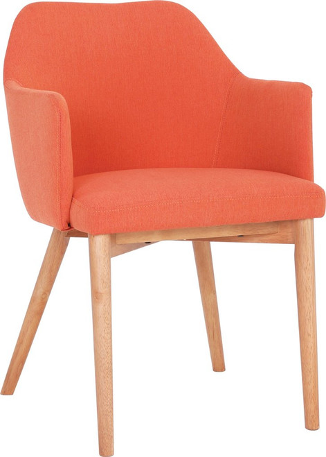 GRITEL FABRIC DINING CHAIR - CARROT
