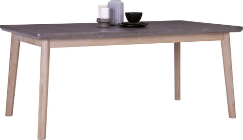 CORBIN HARDWOOD RECTANGULAR DINING TABLE  - 1800(W) -  HAVANA SANDBLAST