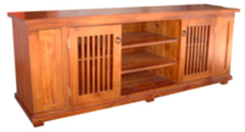 MANILLA LOWLINE TV UNIT WITH DOUBLE DVD/CD PULLOUTS - 680(H) X 1900(W) - ASSORTED COLOURS AVAILABLE