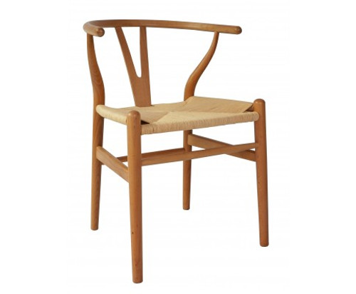 WISBORNE SET OF 2  DINING / OCCASIONAL CHAIRS - NATURAL