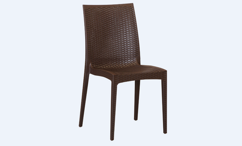 DELTA PLASTIC DINING CHAIR (SET OF 4) - BROWN