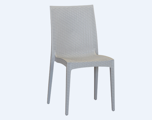 DELTA PLASTIC DINING CHAIR (SET OF 4) - LIGHT GREY