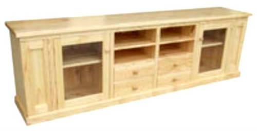 SPECIAL LOWLINE TV UNIT WITH 4 DRAWERS & 2 DOORS -950(H) X 2600(W)  - ASSORTED COLOURS AVAILABLE