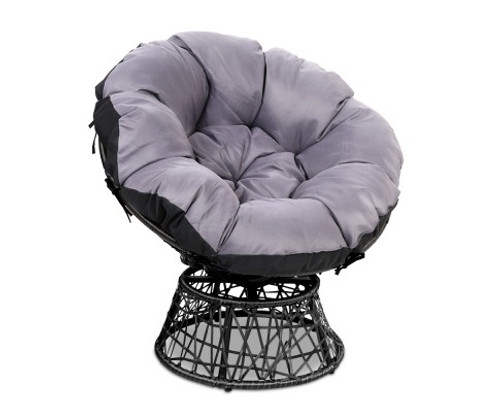 GARDON PAPASAN OUTDOOR / INDOOR  CHAIR - BLACK