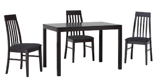 DALLAS  5 PIECE  DINING SET WITH-  1120(L) x 720(W) TABLE - COLOUR AS PICTURED