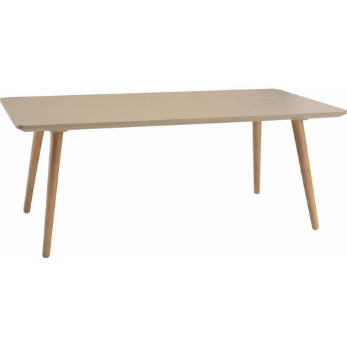 CARISON RECTANGULAR   COFFEE TABLE - 1200(L)- TAUPE  GREY  / NATURAL