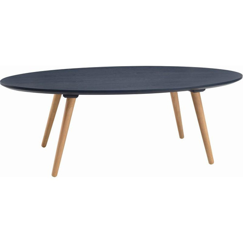CARISON OVAL  COFFEE TABLE - MARINE BLUE