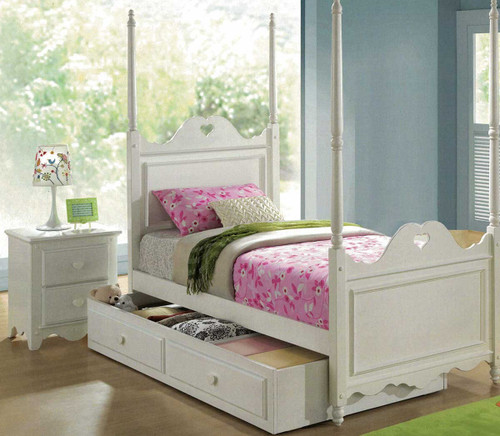HEART SINGLE  3 PIECE BEDROOM SUITE - WHITE