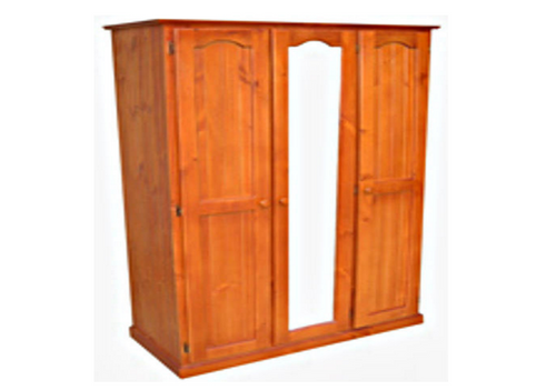 MUDGEE (AUSSIE MADE) TIMBER ALL HANGING WARDROBE - 1800(H) X 1300(W) -ASSORTED COLOURS AVAILABLE