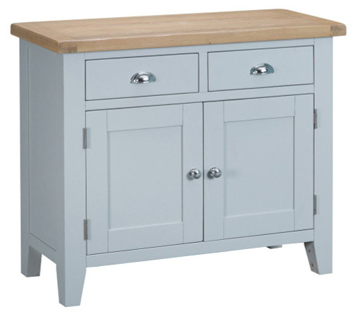 ARBETTA (TT-STS-G) 2 DOOR / 2 DRAWER SIDEBOARD - 850(H) X 1000(W) - GREY  / OAK