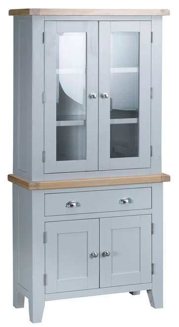ARBETTA (TT-STS-G) MINI SIDEBOARD  WITH HUTCH  - GREY  / OAK