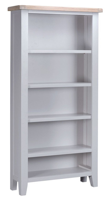 ARBETTA (TT-LBC-G) LARGE BOOKCASE WITH 2 BASKET-  1800(H) X 900(W)  - GREY  & OAK TOP