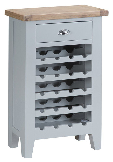 ARBETTA (TT-WC-G) 20 BOTTLE WINE CABINET WITH 1 DRAWER - 960(H) X 600(W) X 300(D) - TWO TONE