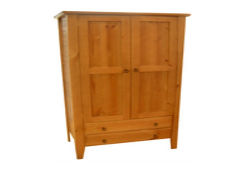 MANILLA (AUSSIE MADE) WARDROBE WITH 2 DOORS & 2 DRAWERS - 1800(H) X  900(W) - ASSORTED COLOURS