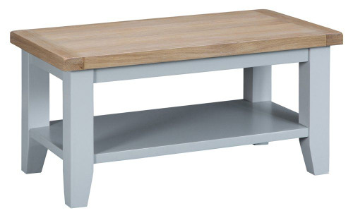 ARBETTA (TT-SCT-G)  SMALL COFFEE TABLE - 900(W) X 500(D) - GREY  / OAK