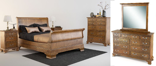 BALLANTYNE  QUEEN  6 PIECE (THE LOT)  BEDROOM SUITE -   BROWN