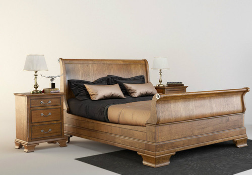BALLANTYNE QUEEN 3  PIECE (BEDSIDE)  OAK BEDROOM SUITE -   BROWN