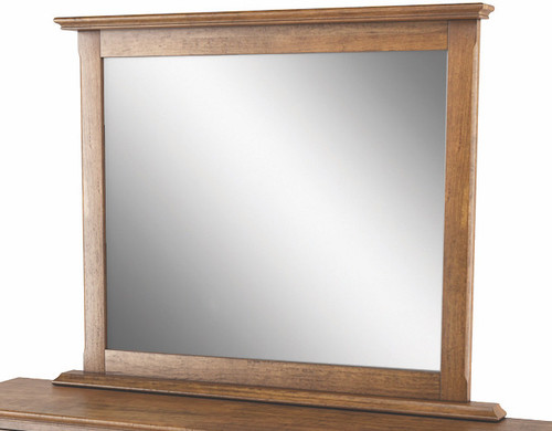 BALLANTYNE  OAK  MIRROR & FIXING KIT -   BROWN