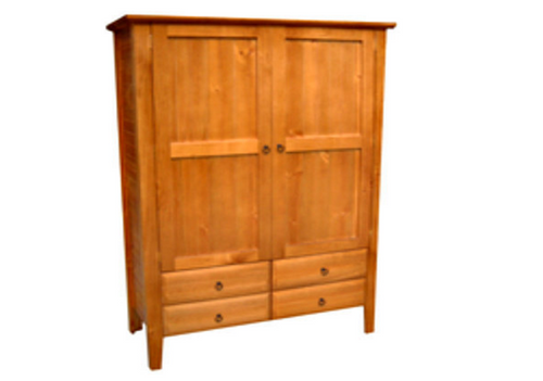 MANILLA WARDROBE WITH 2 DOORS & 4 DRAWERS -1920(H) X 1300(W) -  ASSORTED COLOURS AVAILABLE